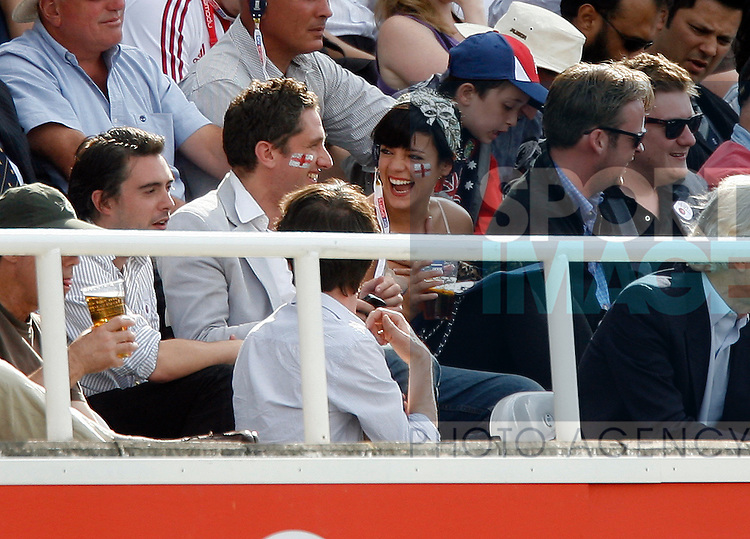 Lilly Allen enjoys the cricket