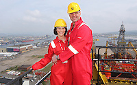 300414 - Mullers Visit Harland & Wolff Shipyard