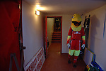 Aldershot Town 0 Torquay United 3, 15/08/2007. Recreation Ground, Football Conference.Torquay's first game in the Blue Square Premier. A 330 mile round trip to Aldershot Town's Recreation Ground. The Aldershot mascot (The Pheonix) in the tunnel before kick off.