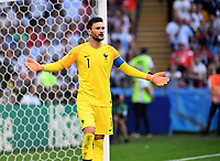 KAZAN - RUSIA, 30-06-2018: Hugo LLORIS arquero de Francia en acción durante partido de octavos de final entre Francia y Argentina por la Copa Mundial de la FIFA Rusia 2018 jugado en el estadio Kazan Arena en Kazán, Rusia. / Hugo LLORIS, goalkeeper of France, in action during the match between France and Argentina of the round of 16 for the FIFA World Cup Russia 2018 played at Kazan Arena stadium in Kazan, Russia. Photo: VizzorImage / Julian Medina / Cont