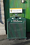 Glass and metal recycling street collection container, Bergen, Norway