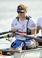 Poznan, POLAND,  GBR TAMix2x, Samantha SCOWN, before competing in the heats of the Trunk and Arms Double Sculls, on the Second day of the, 2009 FISA World Rowing Championships. held on the Malta Rowing lake, Monday 24/08/2009 [Mandatory Credit. Peter Spurrier/Intersport Images]