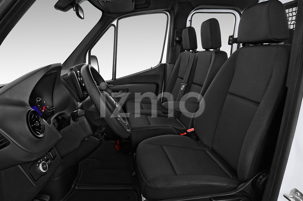 Front seat view of a 2019 Mercedes Benz Sprinter DC Base 4 Door Pick Up front seat car photos