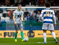 Blackburn Rovers' Darragh Lenihan (left) calls for support as Queens Park Rangers' Ilias Chair (right) looks on <br /> <br /> Photographer Andrew Kearns/CameraSport<br /> <br /> The EFL Sky Bet Championship - Queens Park Rangers v Blackburn Rovers - Saturday 5th October 2019 - Loftus Road - London<br /> <br /> World Copyright © 2019 CameraSport. All rights reserved. 43 Linden Ave. Countesthorpe. Leicester. England. LE8 5PG - Tel: +44 (0) 116 277 4147 - admin@camerasport.com - www.camerasport.com