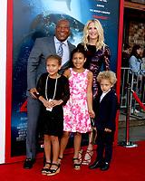 "LOS ANGELES - JUN 12:  Byron Allen, Jennifer Lucas, Olivia Allen, Chloe Allen, Lucas Allen at the ""47 Meters Down"" Premiere at the Village Theater on June 12, 2017 in Westwood, CA"