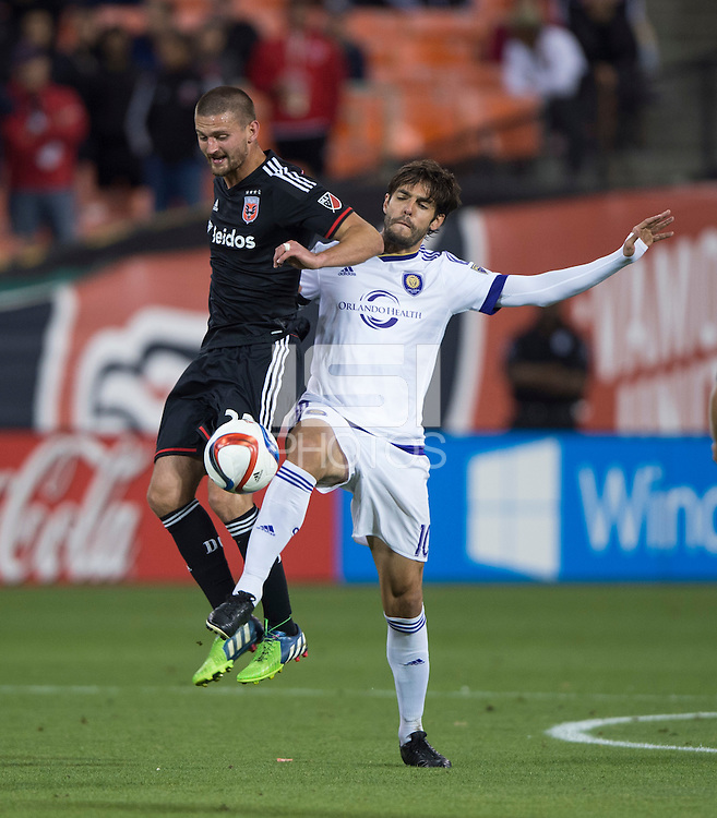Washington, DC- May 13, 2015: D.C. United defeated Orlando City SC 2-1 during their Major League Soccer (MLS) match at RFK Stadium.
