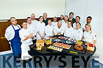 Pastry Chef Erik Van der Veken's (front row centre) with his latest innovations and techniques in modern patisserie seminar to leading pastry chefs from Kerry at the I T Tralee on Tuesday.