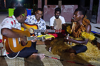 Native Fijians Play Guitar and Sing at Turtle Island, Yasawa Islands, Fiji
