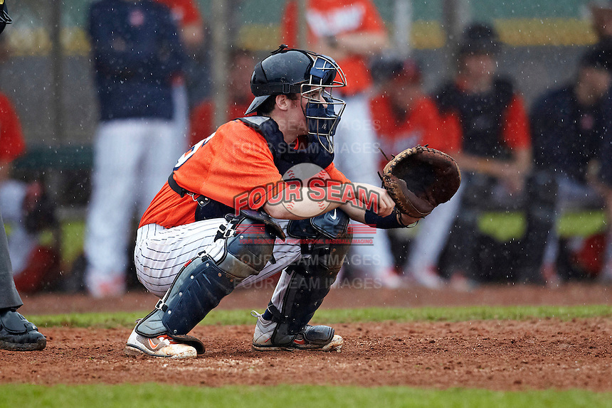 Illinois Fighting Illini catcher Alex Lincoln #16 during a game against the Notre Dame Fighting Irish at the Big Ten/Big East Challenge at Walter Fuller Complex on February 17, 2012 in St. Petersburg, Florida.  (Mike Janes/Four Seam Images)
