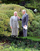 Washington, DC - October 6, 2009 -- United States Representative Jerry Lewis (Republican of California), left, and U.S. House Majority Leader Steny Hoyer (Deomcrat of Maryland) share some thoughts after meeting United States President Barack Obama on the U.S. strategy in Afghanistan on Tuesday, October 6, 2009..Credit: Ron Sachs / Pool via CNP