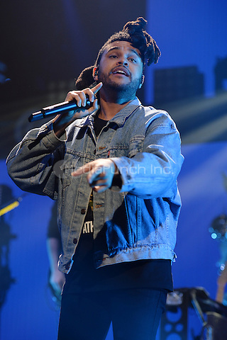 SUNRISE FL - DECEMBER 18: The Weeknd performs at the Y100 Jingle Ball 2015 held at The BB&T Center on December 18, 2015 in Sunrise, Florida. Credit: mpi04/MediaPunch