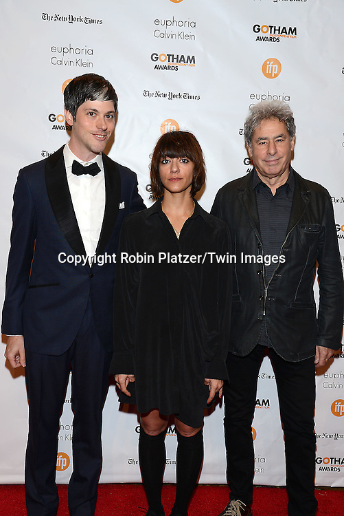 Danny Gabai, Ana LIly Amirpour and Richard Lorber attends the 24th Annual Gotham Independent Film Awards on December 1, 2014 at Cipriani Wall Street in New York City, USA. <br /> <br /> photo by Robin Platzer/Twin Images<br />  <br /> phone number 212-935-0770