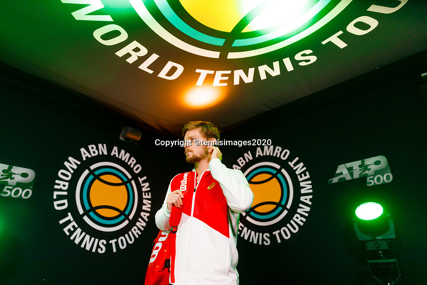 Rotterdam, The Netherlands, 9 Februari 2020, ABNAMRO World Tennis Tournament, Ahoy, David Goffin (BEL).<br /> Photo: www.tennisimages.com