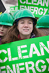 Powershift '09 Rally.March 2, 2009  Washington, D.C, USA. A young activist joins thousands on Capitol Hill in Washington, DC to call for a green economy, a safe sustainable future and binding climate legislation from the United States government. The rally followed on the heels of PowerShift '09, the largest climate change youth conference in United States history.
