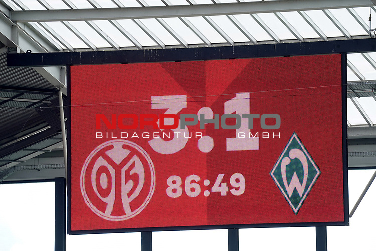 Sport: Fussball: 1. Bundesliga:: nphgm001:  Saison 19/20: 33. Spieltag: 1. FSV Mainz 05 vs SV Werder Bremen 20.06.2020<br />