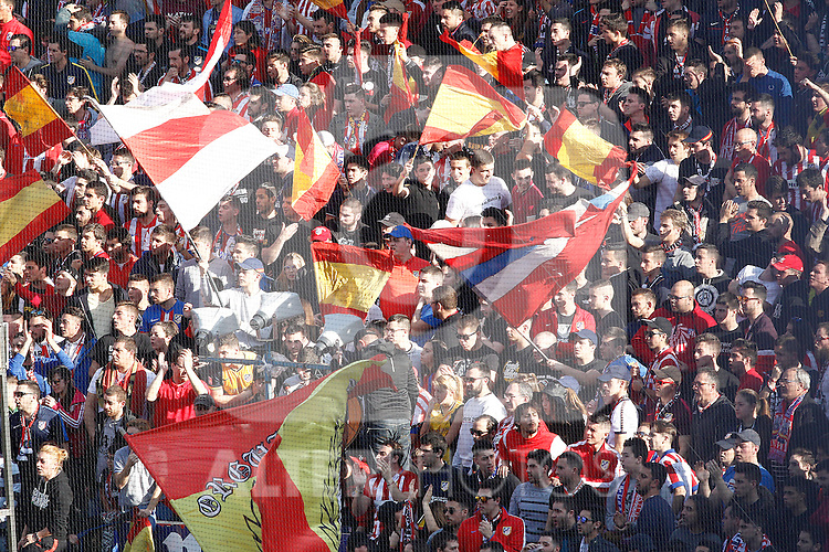 Atletico de Madrid's supporters during La Liga match. February 26,2017. (ALTERPHOTOS/Acero)