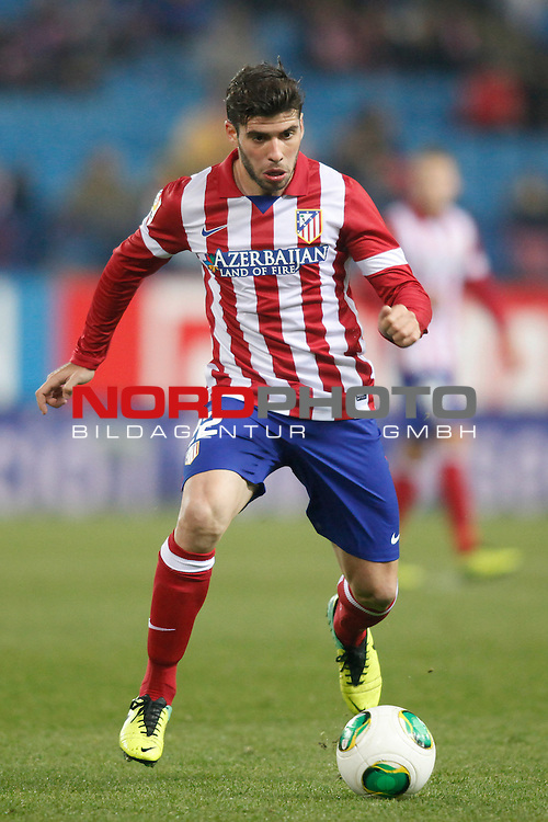 Atletico de Madrid¬¥s Insua during Copa del Rey 2013-14 match at Vicente Calderon Stadium in Madrid, Spain. Foto © nordphoto / Victor Blanco) *** Local Caption ***