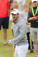 Matthew Nixon (ENG) plays his 2nd shot on the 2nd hole during Saturday's Round 3 of the 2018 Dubai Duty Free Irish Open, held at Ballyliffin Golf Club, Ireland. 7th July 2018.<br /> Picture: Eoin Clarke | Golffile<br /> <br /> <br /> All photos usage must carry mandatory copyright credit (&copy; Golffile | Eoin Clarke)