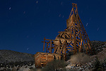 Evening Star Mine Headframe at Night