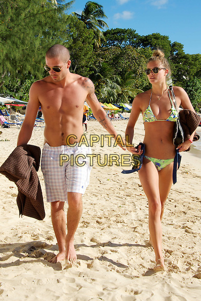 BARBADOS - NOVEMBER 29.  Nina Agal &amp; Max George of The Wanted on November 29, 2013, in Barbados. <br /> CAP/JOR<br /> &copy;Nils Jorgensen/Capital Pictures