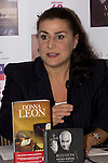 27.09.2012. The American writer Donna Leon and the Italian singer Cecilia Bartoli presented the book 'The jewels of paradise' of Donna Leon and the album 'Mission' of Cecilia Bartoli in the Hotel AC Retiro in Madrid, Spain. In the image Cecilia Bartoli (Alterphotos/Marta Gonzalez)