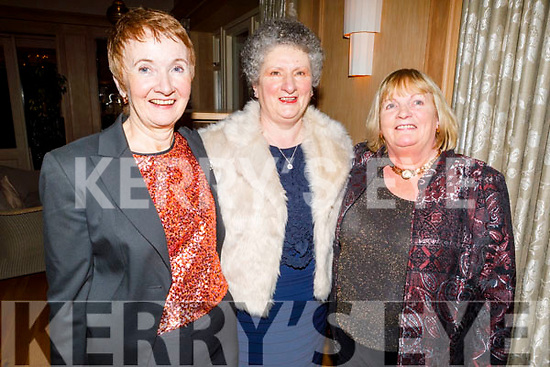 Joan O'Connor (Scartaglin), Jacinta Walsh (Tralee) and Bernie Broderick (Duagh) enjoying  the Kerry Supporters Social in the Ballygarry House Hotel on Saturday.