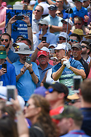 Jordan Spieth (USA) watches his tee shot on 3 during round 4 of the 2019 Charles Schwab Challenge, Colonial Country Club, Ft. Worth, Texas,  USA. 5/26/2019.<br /> Picture: Golffile | Ken Murray<br /> <br /> All photo usage must carry mandatory copyright credit (© Golffile | Ken Murray)