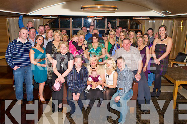 Susan Bartlett, Coil an Bharraigh, Firies,, seated second from left, pictured with her mother Eileen, husband Adrian, daughter Aoibhe, sister Louise, Paul Heenan, dad Richard, sister Rachel, brother Daniel, family and friends as she celebrated her 30th birthday in The Plaza on Saturday night.....