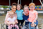 Charlie Griffin, Sarah O'Carroll, Brogan Griffin, Nicola and Sophie Horan from Tralee ready to enjoy the Circus Vegas on Saturday