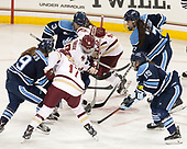Mikayla Rogers (Maine - 9), Delaney Belinskas (BC - 17), Makenna Newkirk (BC - 19), Brooke Stacey (Maine - 3), Kenzie Kent (BC - 12), Alyson Matteau (Maine - 7), Catherine Tufts (Maine - 15) - The Boston College Eagles defeated the visiting University of Maine Black Bears 2-1 on Saturday, October 8, 2016, at Kelley Rink in Conte Forum in Chestnut Hill, Massachusetts.  The University of North Dakota Fighting Hawks celebrate their 2016 D1 national championship win on Saturday, April 9, 2016, at Amalie Arena in Tampa, Florida.