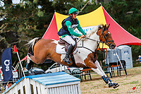 Daniel Bitchener rides Mr Harlequin during the Cross Country for Class 1A NZPCA 1.05m. 2019 NZL-Hunua Pony Club 2DE. Proudly Sponsored by Golden Horse Feeds and Christophe Pallies. Sunday 3 February. Copyright Photo: Libby Law Photography