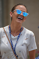 Brooks Koepka's (USA) girlfriend Jena Sims shares a laugh with friends following round 4 of The Players Championship, TPC Sawgrass, at Ponte Vedra, Florida, USA. 5/13/2018.<br /> Picture: Golffile | Ken Murray<br /> <br /> <br /> All photo usage must carry mandatory copyright credit (&copy; Golffile | Ken Murray)
