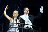 Evita<br /> by Tim Rice &amp; Andrew Lloyd Webber<br /> at the Dominion Theatre, London, Great Britain <br /> Press photocall<br /> 18th September 2014<br /> <br /> Madalena Alberto as Eva<br /> Marti Pellow as Che<br /> Ben Forster as Magaldi <br /> Matthew Cammelle as Peron <br /> Sarah McNicholas, Michelle Pentecost, Amira Matthews, Olive Robinson, Verity Burgess, Gemma Atkins, Lizzie Ottley, Joe McCourt, Joe Maxwell, Joel Elferink, Ryan Pidgen, Anthony Ray, Chris Stoddart, Callum Fitzgerald, David Burlin, Maciver, Peter McPherson, Joseph Connor, Jamie Tyler, Christopher Palmer. <br /> <br /> Photograph by Elliott Franks <br /> Image licensed to Elliott Franks Photography Services