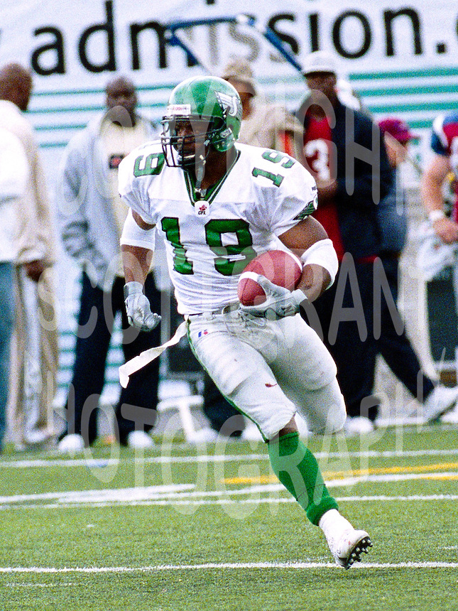 Corey Holmes Saskatchewan Roughriders 2003. Photo John Bradley