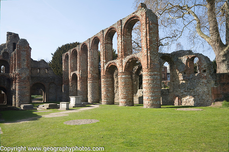 Ruins of Saint Botolph's priory, Colchester, Essex, England