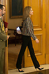Queen Letizia of Spain during a royal audience at Zarzuela Palace in Madrid, Spain. January 08, 2015. (ALTERPHOTOS/Victor Blanco)