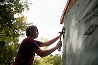 Service DAWGS Day: MSU student volunteers helping at Habitat for Humanity Maroon Edition house.<br />  (photo by Megan Bean / &copy; Mississippi State University)