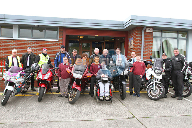 St. Ita's students are treated to a great display as bikers and councillors visit the school at the Run of The Country Motorbike launch at St. Ita's School<br /> Picture: www.newsfile.ie