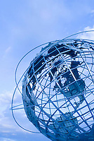 THIS IMAGE IS AVAILABLE EXCLUSIVELY FROM GETTY IMAGES<br /> <br /> Please search for image # 200566130-004 on www.gettyimages.com<br /> <br /> The Unisphere, Steel Globe Built for the 1964-65 World's Fair, Flushing Meadow Corona Park, Queens, New York City, New York State, USA