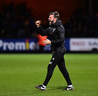 Lincoln City's assistant manager Nicky Cowley applauds the fans at the final whistle<br /> <br /> Photographer Andrew Vaughan/CameraSport<br /> <br /> The EFL Sky Bet League Two - Cambridge United v Lincoln City - Saturday 29th December 2018  - Abbey Stadium - Cambridge<br /> <br /> World Copyright © 2018 CameraSport. All rights reserved. 43 Linden Ave. Countesthorpe. Leicester. England. LE8 5PG - Tel: +44 (0) 116 277 4147 - admin@camerasport.com - www.camerasport.com