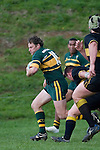 R. Dennison heads for the tryline. Counties Manukau Premier club rugby game between Bombay & Pukekohe played at Bombay on the 19th of May 2007. Pukekohe led 24 - 0 at halftime & went on to win 30 - 22.