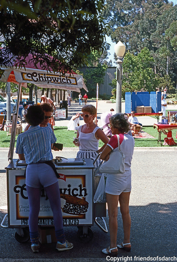 San Diego: Balboa Park Ice Cream Vendor.  (Photo 1984)