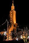 LA Temple Christmas Lights