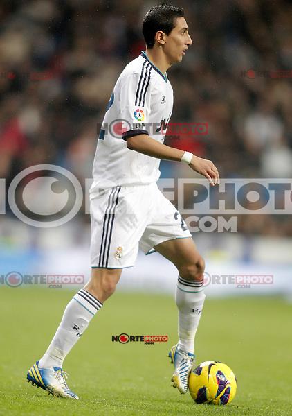 Real Madrid's Angel Di Maria during La Liga match. December 16, 2012. (ALTERPHOTOS/Alvaro Hernandez)
