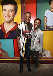"J Harrison Ghee and guest attends then Broadway Family invite to The Final Dress Rehearsal Of Harvey Fierstein's ""Torch Song"" on October 8, 2018 at the Hayes Theatre in New York City."