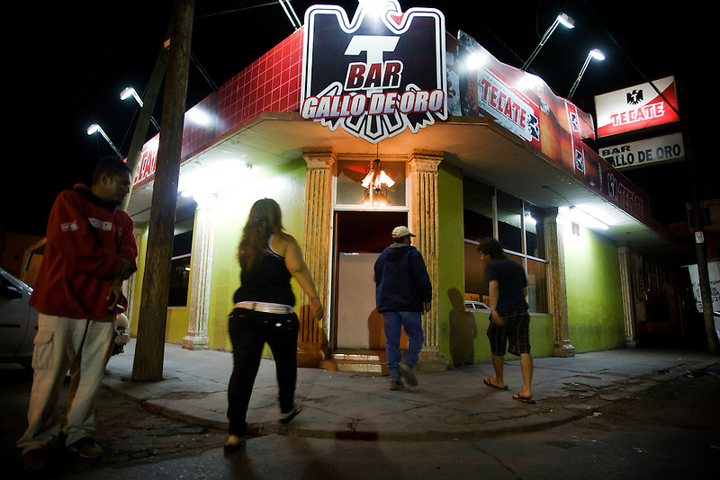 Entrance of a bar in the red zone area -&quot;EL Bajio&quot;.<br /> <br /> Northern Mexico is very polarized in sense of social status. In the red zone of Ensenada - &quot;El Bajio&quot;, people of considered &quot;low-class&quot; have their share of night life. Alcoholics, prostitutes, drug junkies and the simple survivors find cheap beer and  entertainment..