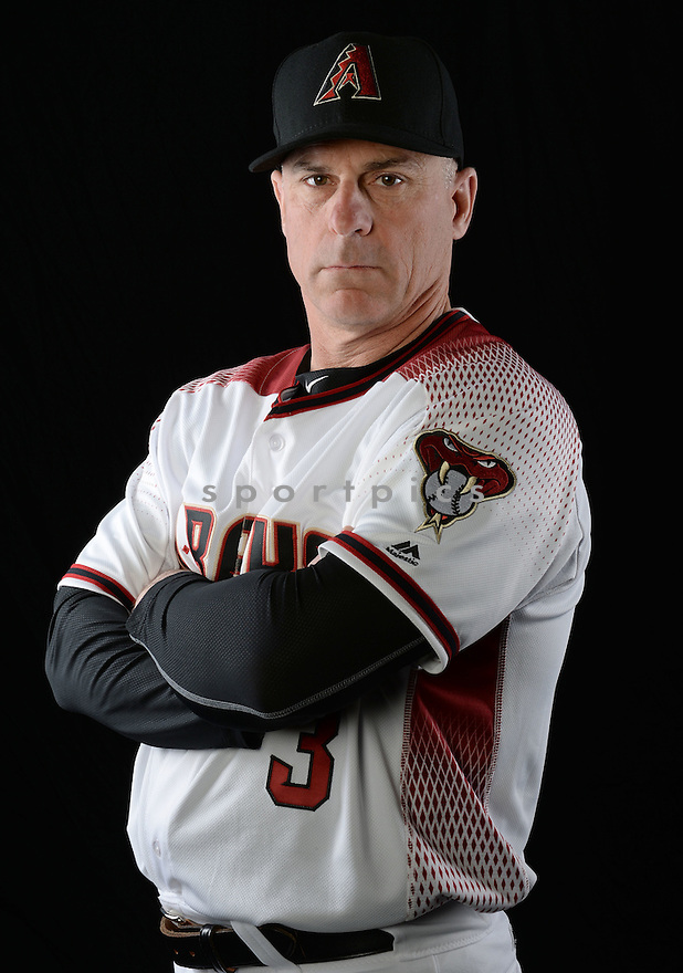 Arizona Diamondbacks Chip Hale (3) during photo day on February 28, 2016 in Scottsdale, AZ.