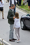 King Felipe VI of Spain and Princess Leonor of Spain visit the Enol lake in Asturias, Spain. September 08, 2018. (ALTERPHOTOS/A. Perez Meca)