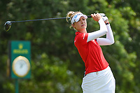 Nelly Korda (USA) watches her tee shot on 1 during round 4 of the 2019 US Women's Open, Charleston Country Club, Charleston, South Carolina,  USA. 6/2/2019.<br /> Picture: Golffile | Ken Murray<br /> <br /> All photo usage must carry mandatory copyright credit (© Golffile | Ken Murray)