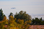 Space Shuttle Endeavor flys by Los Altos